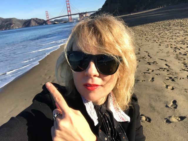 Lettie at dawn at Baker Beach, San Francisco February 2018