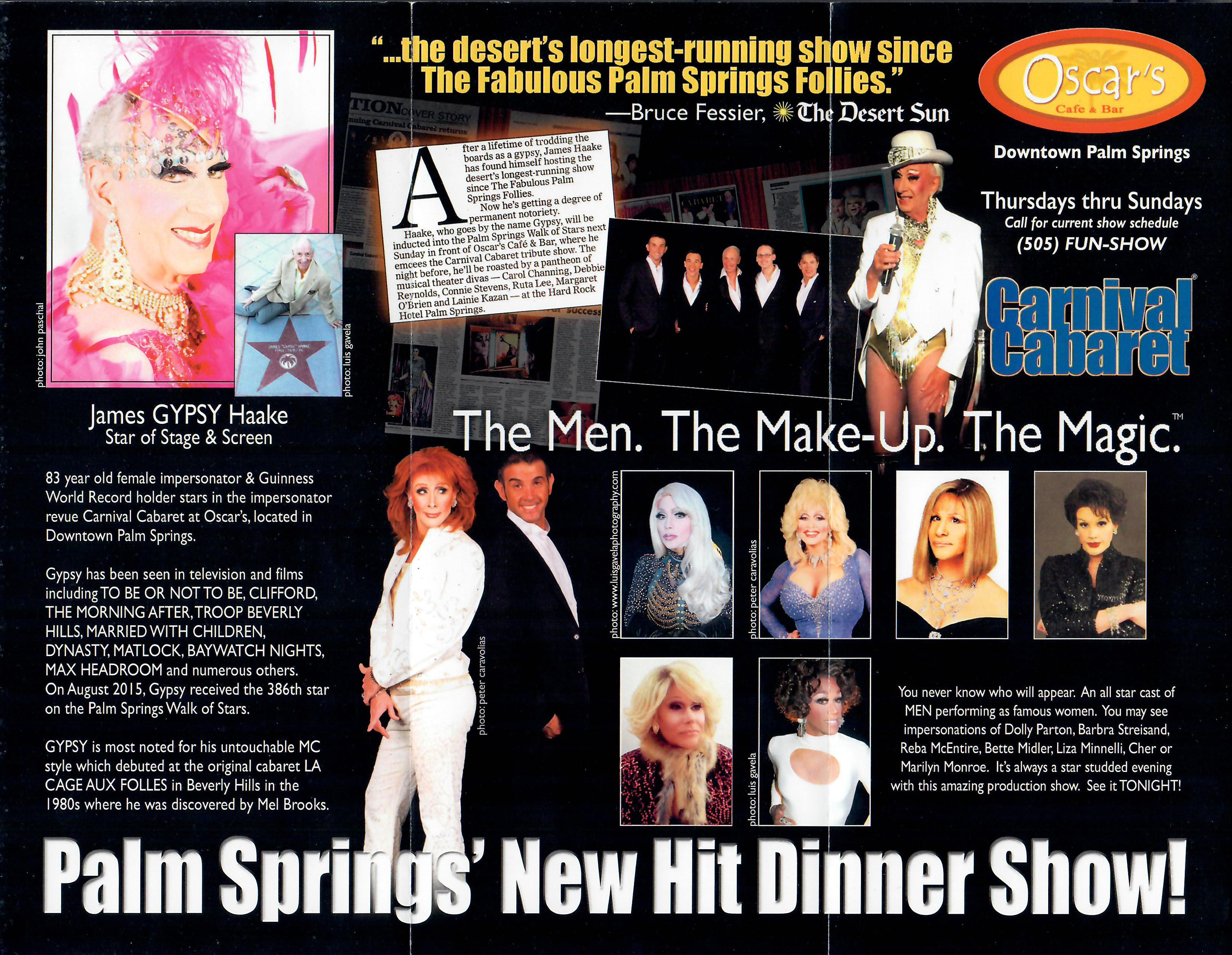Palm Spring's New Hit Dinner Show!