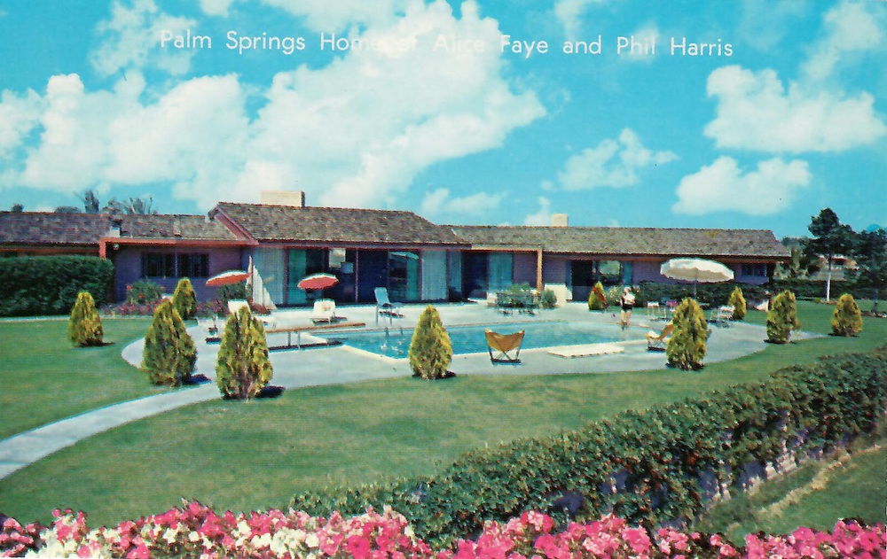 The beautiful home and swimming pool of Phil Harris and Alice Faye