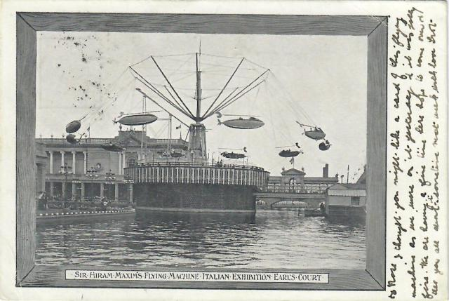 Maxim's Flying Machine Earls Court 1904 Italian Exhibition oldest fairground ride in Europe