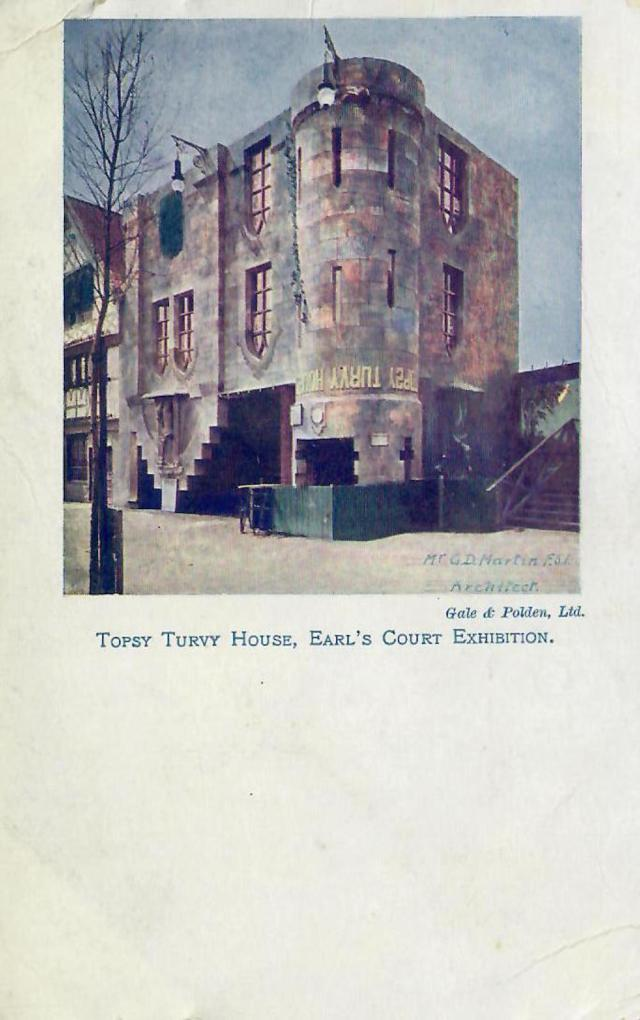 Topsy Turvy House Earls Court Exhibition 1906