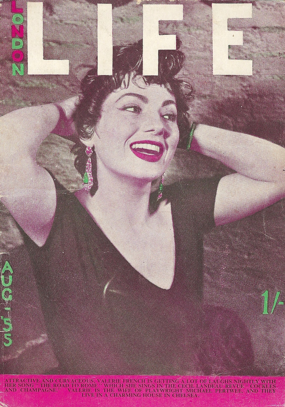 Cover of London Life Magazine 31 Craven Street August 1955 A5 size
