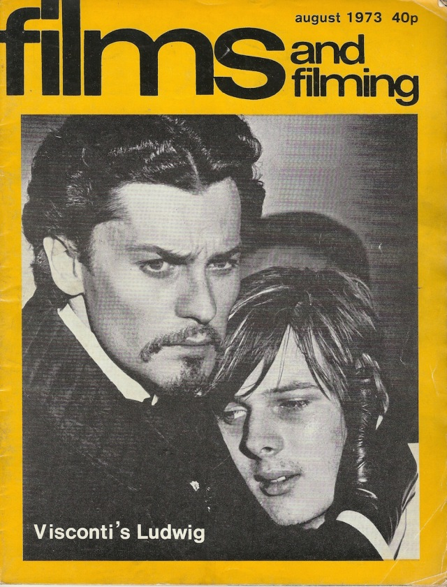 Films and Shooting Magazine August 1973 by Hansom Books Artillery Mansions cover from Visconti's 'Ludwig'