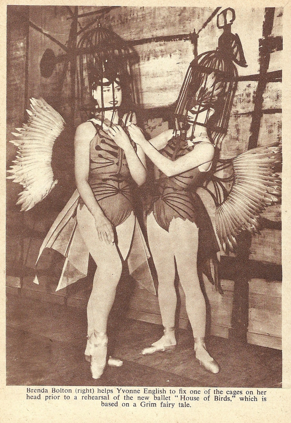 From London Life August 1955 in costume for House of Birds