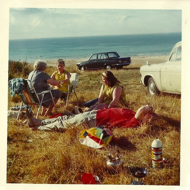 Hayle Beach July 1971 unknown photograph album from Battersea Car Boot sale