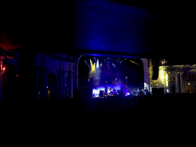 The Eels at Brixton Academy sitting on the bar what a great view!