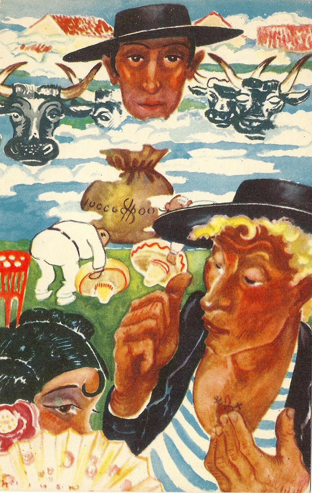 Sago Konstar Stockholm Printed in Sweden unmarked on back