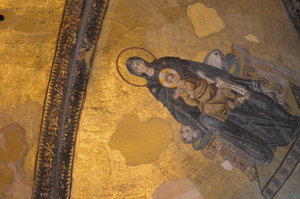 On the ceiling of Hagia Sophia (October 2018)