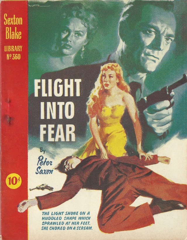Flight Into Fear by Peter Saxon Sexton Blake LIbrary No 360 (Published by Amalgamated Press Ltd)