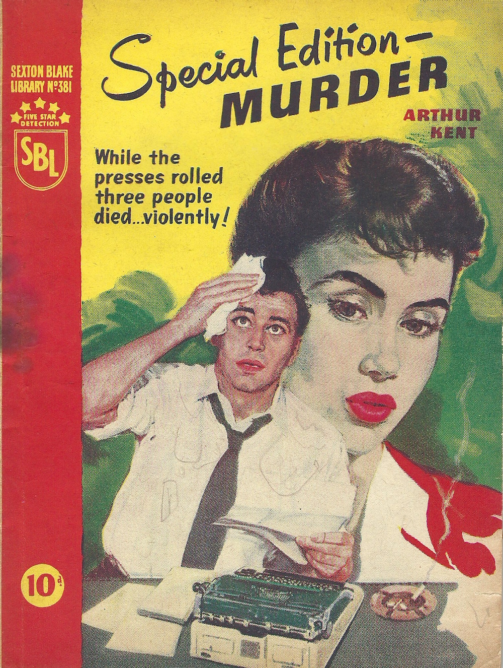Special Edition - Murder by Arthur Kent Sexton Blake Library No 381