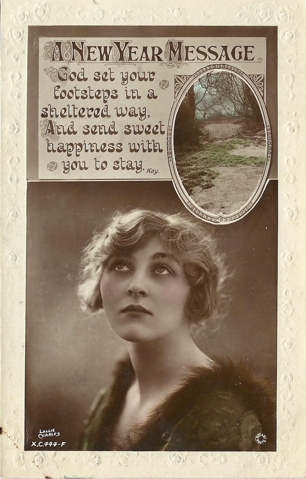 Dear Agnes Best for New Year Elsie Jan 2 1922