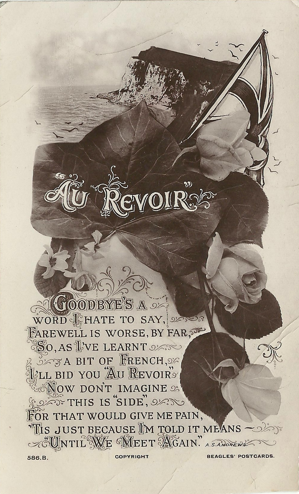 J Beagles & Co unmarked postcard