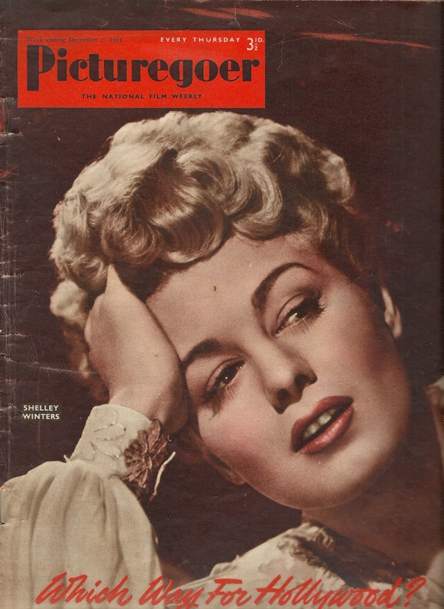 PIcturegoer 1 December 1953 Shelly Winters National Film Weekly No 865 Volume 22