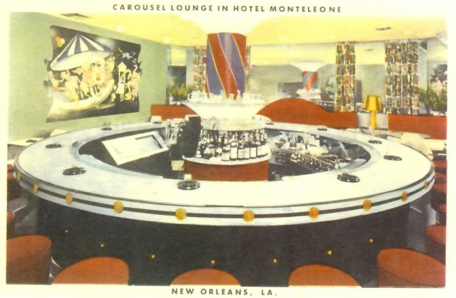 Carousel Lounge in Hotel Monteleone New Orleans Reproduction postcard