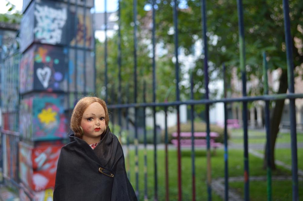 Dolly in Graffiti Street Werregarenstraat, 9000 Gent, Belgium