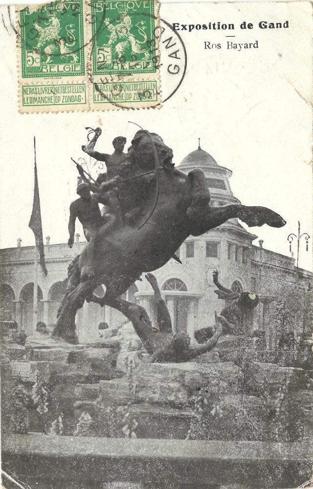 Exposition de Gand Ros Bayard posted 1913