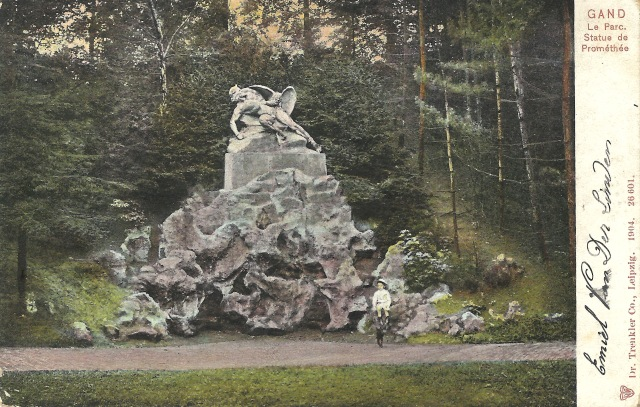 Gand Le Parc de Promethee 9 October 1908