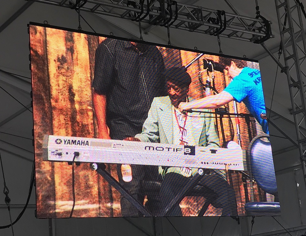 Henry Gray 94 year old blues pianist playing with Kenny Neal New Orleans Jazz Festival 2019
