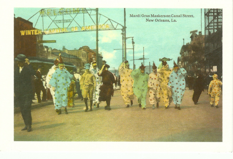 Mardi Gras Maskers on Canal Street New Orleans, La