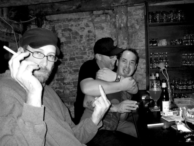 With Peter Murphy Crew 2009 in some bar I could never find again in Gent