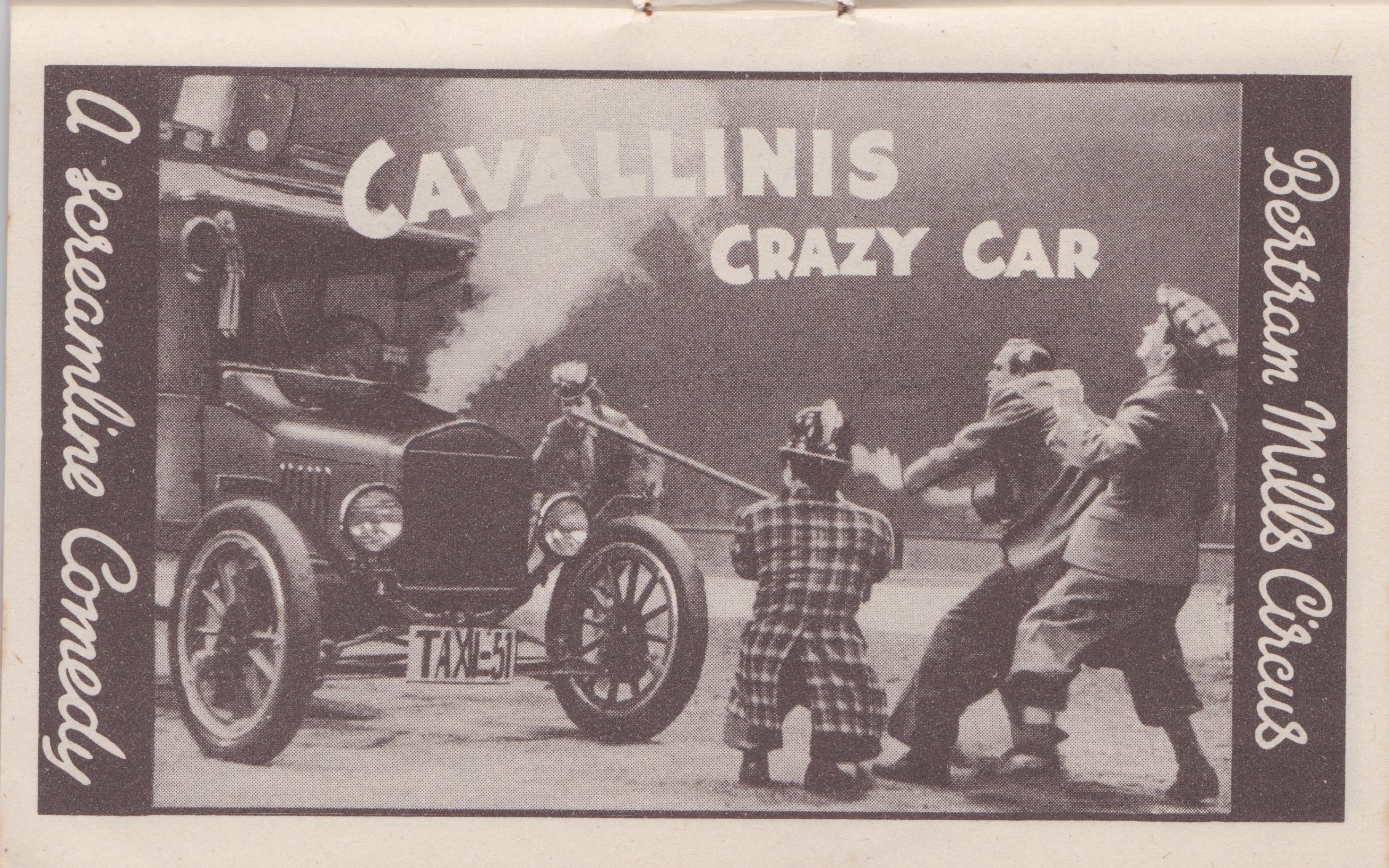 Bertram Mills Circus Dec 17 1948 Cavallini's Crazy Car
