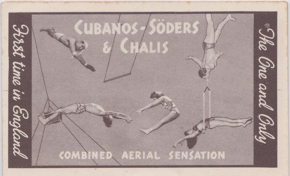 Bertram Mills Circus Dec 17 1948 Cubanoso-Soders & Chalis