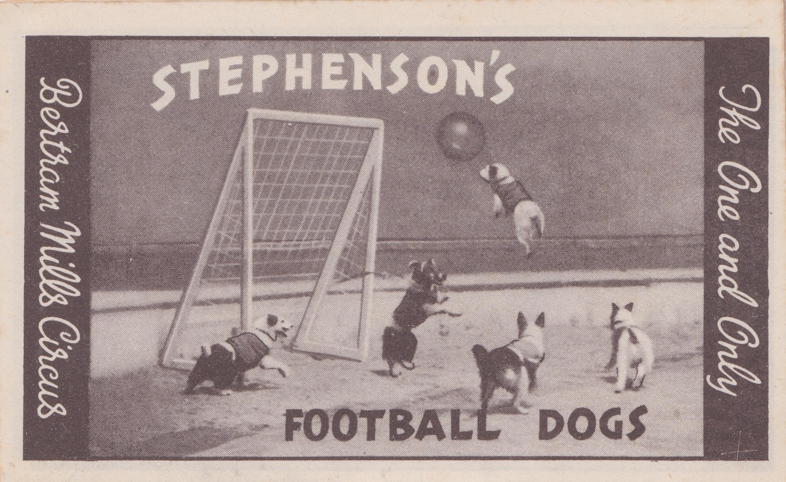 Bertram Mills Circus Dec 17 1948Stephenson's Football Dogs