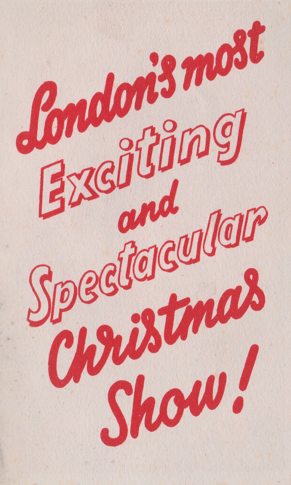 Bertram Mills Circus Grand Hall Olympia Dec 17 1948
