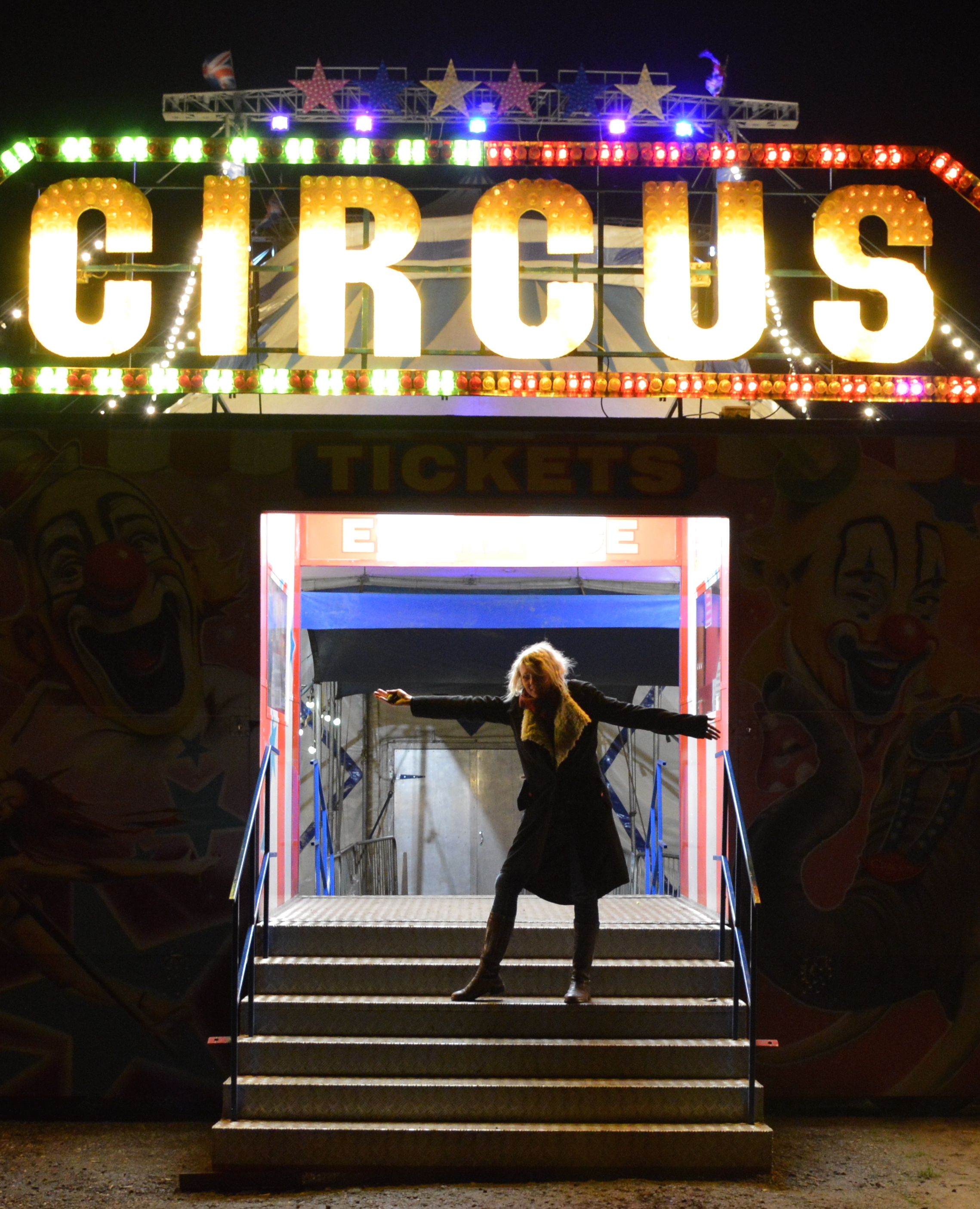 Circus Fantasia set up on the side of the A12 like a miraculous mirage this was after the sold out show on Saturday 23 November 2019