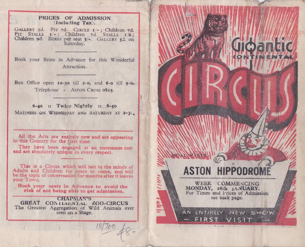 Gigantic Circus Aston Hippodrome 28 January
