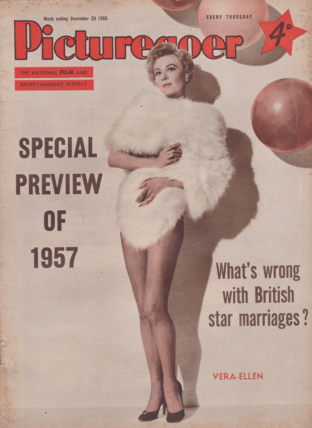 Picturegoer December 29 1957 Vera-Ellen cover