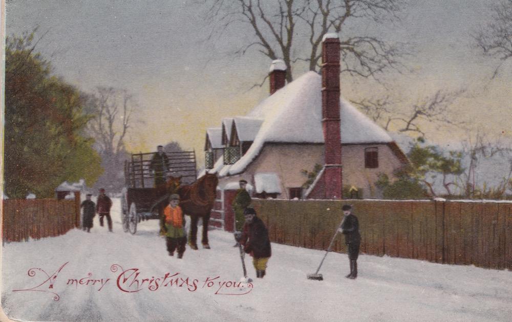 Wishing you a Happy Christmas Mrs Edwards Saffron Walden Dec 20